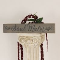 'Soul Mates' Shabby Chic Wooden Plaque